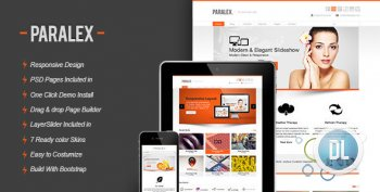 ThemeForest - Paralex v.2.0 - Multi-Purpose Responsive Wordpress Theme