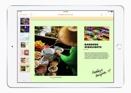 Apple добавила в iWork поддержку Pencil и возможность творения книг