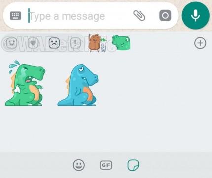 В мессенджере WhatsApp покажутся стикеры